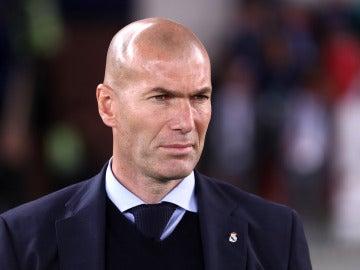 Zidane, durante el partido ante el Al-Jazira