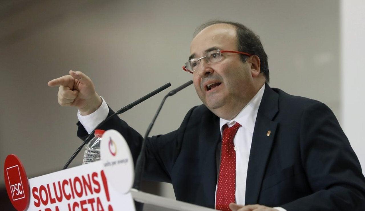 Miquel Iceta durante un acto electoral