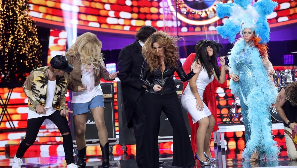 Los concursantes de 'Tu cara me suena' se unen a la locura rockera de 'Mario Vaquerizo'