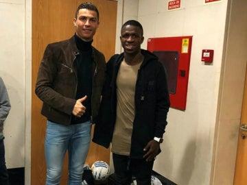Vinicius, con Cristiano