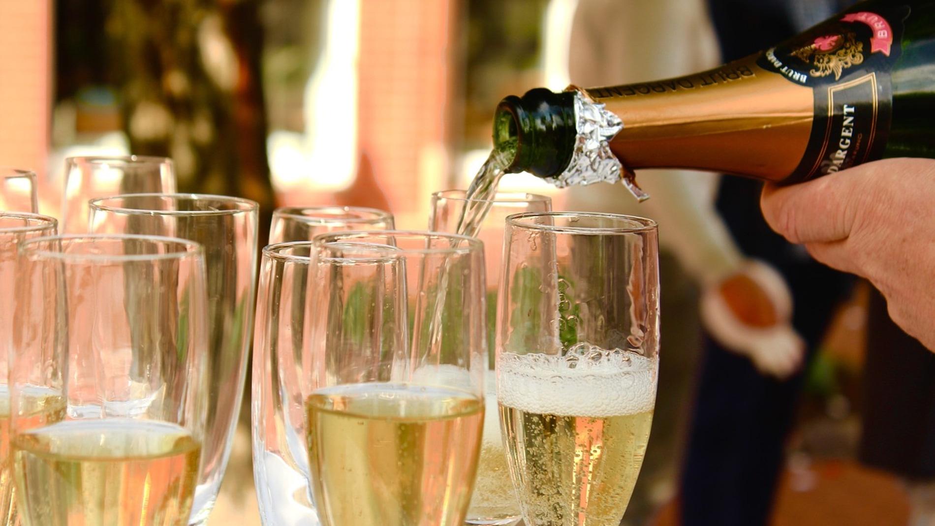 Foto de archivo de champán