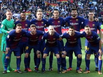 Alineación del Barcelona en el Clásico