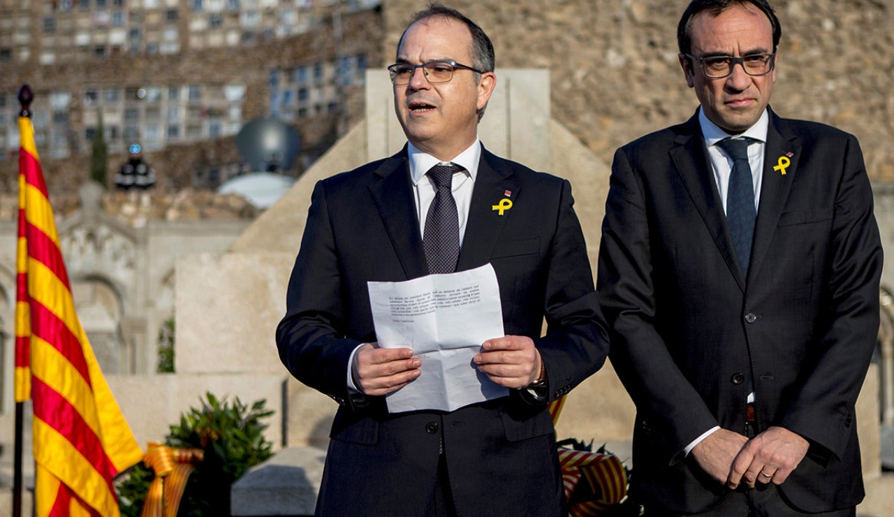 Los exconsellers y diputados electos Jordi Turull y Josep Rull