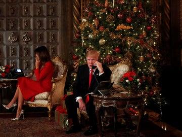 Donald Trump y su mujer reciben llamadas de niños