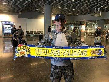 Jémez, a su llegada a Las Palmas