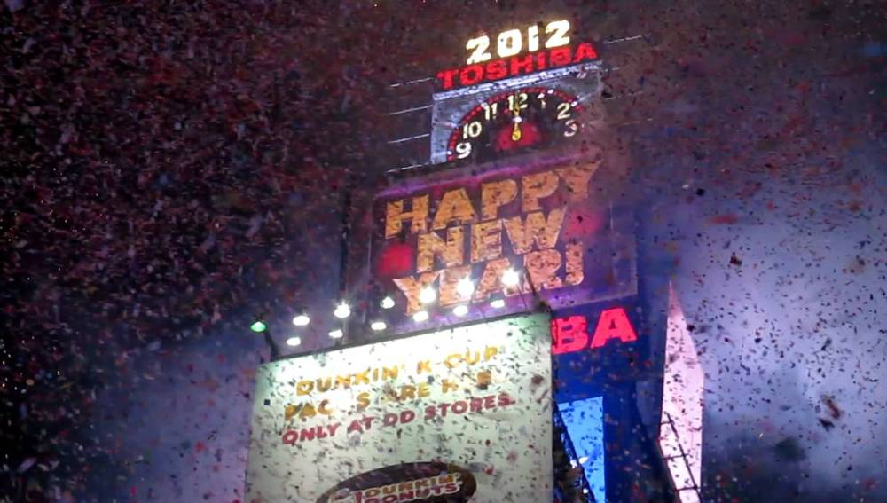 La espectacular entrada del 2012