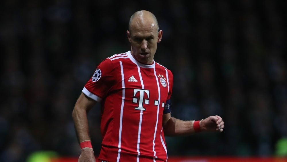 Robben, en un partido con el Bayern
