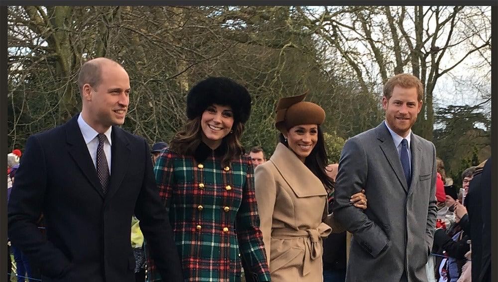 Los Duques de Cambridge junto al príncipe Harry y Meghan Markle