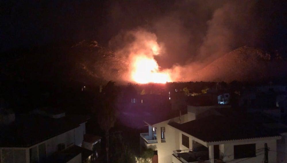 El incendio declarado en Mallorca