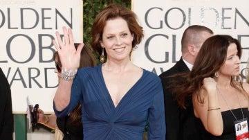 Sigourney Weaver en los Globos de Oro