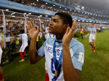 Rhian Brewster, tras ganar a España en el Mundial sub-17