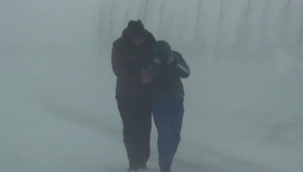 Un temporal de frio y nieve azota el noreste de China