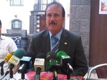 El alcalde de Firgas, Manuel Báez, en una fotografía de archivo