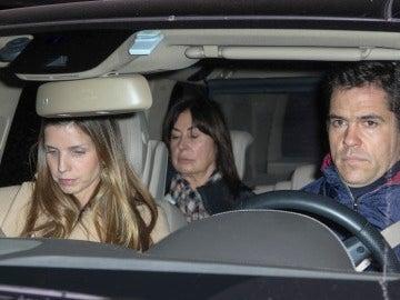 Luis Alfonso de Borbón junto a Margarita Vargas y Carmen Martínez-Bordíu