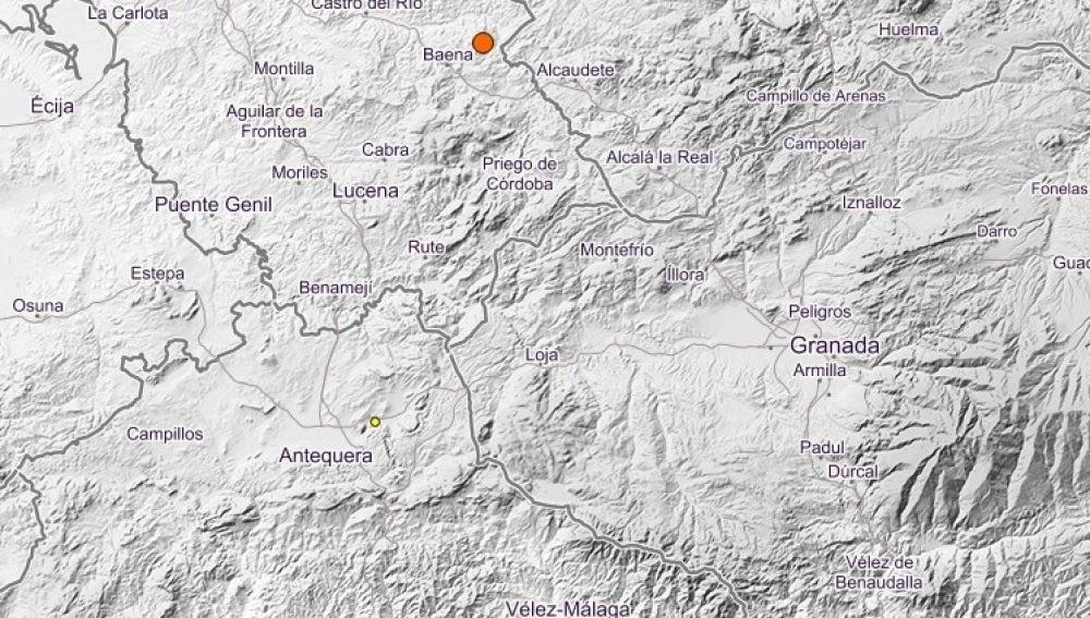 Terremotos en Baena y Benalmádena
