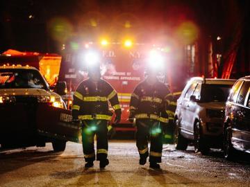 Incendio en un bloque de pisos de Nueva York