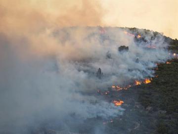 Incendio forestal en Culla, Castellón