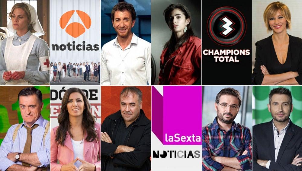 Audiencias Atresmedia 2017