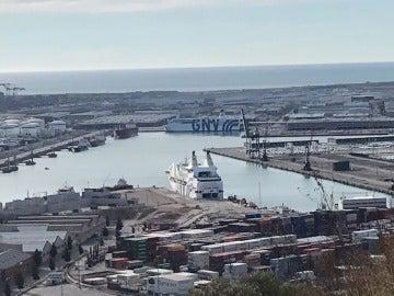 Puerto donde estaban atracados los barcos de la Guardia Civil y la Policía en Cataluña