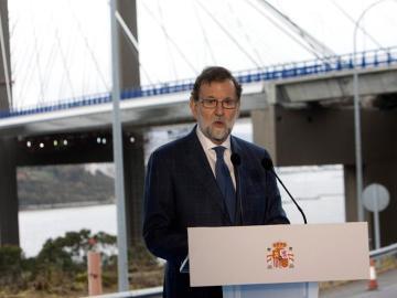 El presidente del Gobierno, Mariano Rajoy, en su último acto público en 2017