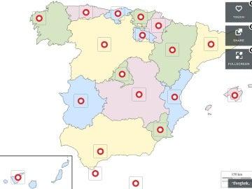 Mapa de días festivos en España
