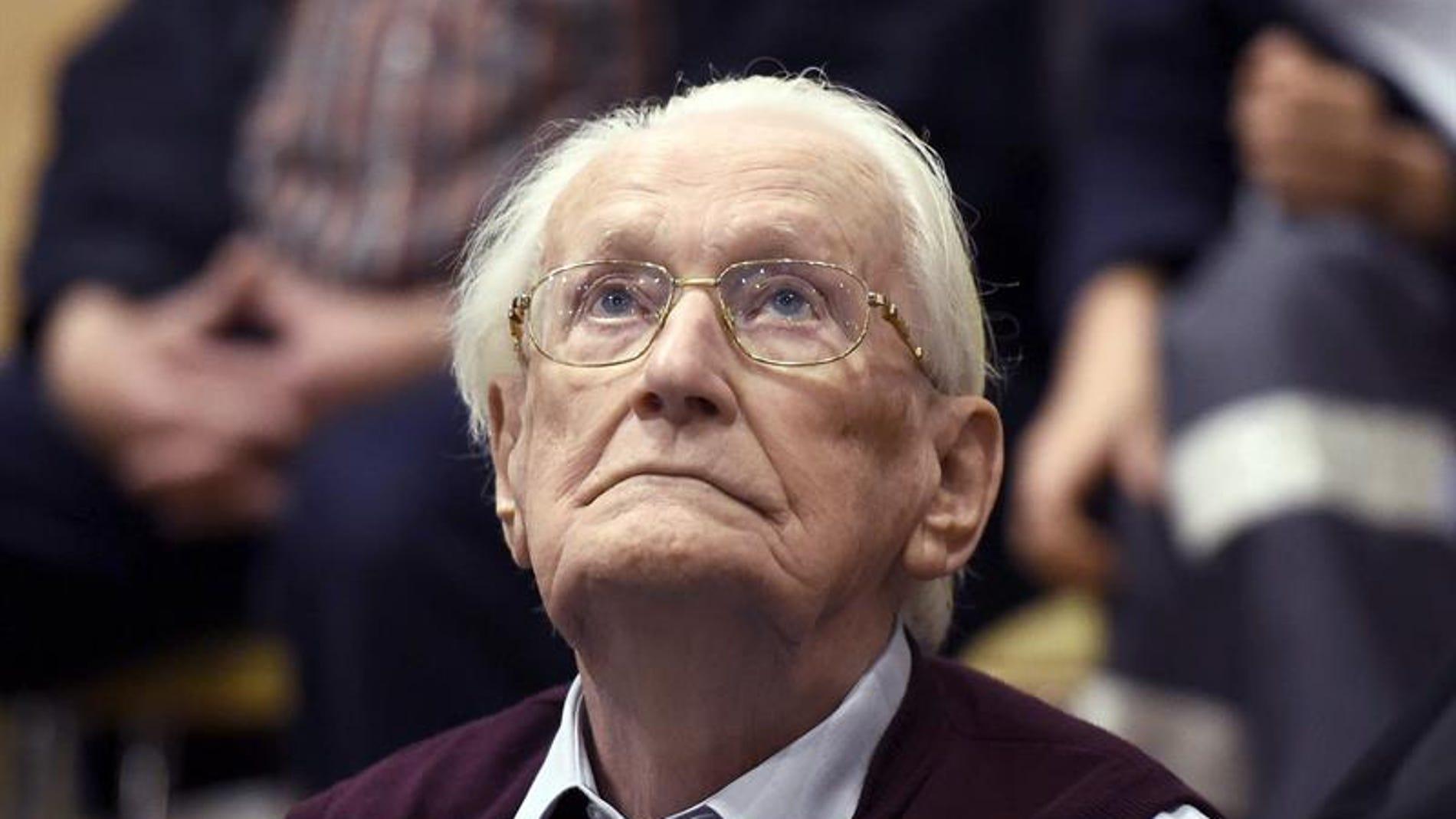 """El llamado """"contable de Auschwitz"""", exmiembro de las SS hitlerianas ,Oskar Gröning"""