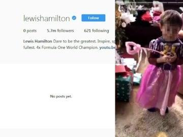Hamilton borra su cuenta de Instagram