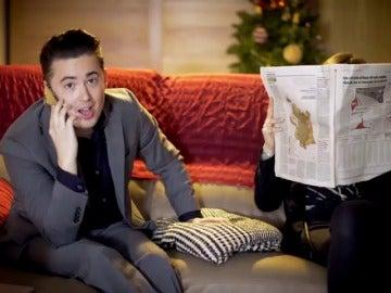 El protagonista del anuncio de 'Hola, soy Edu, ¡Feliz Navidad!' vuelve a recrear el spot 20 años después