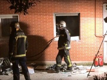 Piso incendiado en Alcobendas