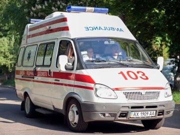 Una ambulancia de Ucrania