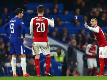 Un acción durante el Chelsea - Arsenal de la Copa de la Liga
