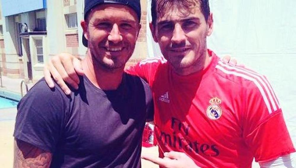 Iker Casillas y David Beckham
