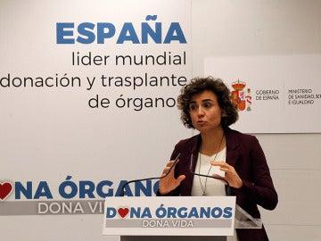 Dolors Montserrat presenta los datos de donaciones y trasplantes