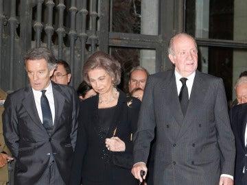 Alfonso Díez, reina Sofía y el rey Juan Carlos