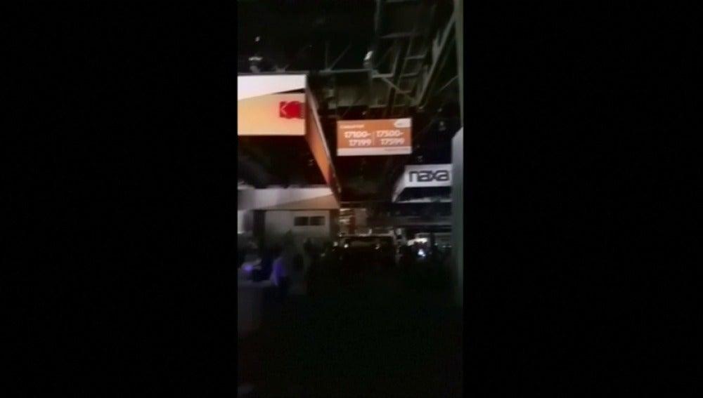 Un apagón deja a oscuras una zona de la feria CES en Las Vegas
