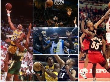 Durant, junto a otros grandes anotadores de la historia de la NBA