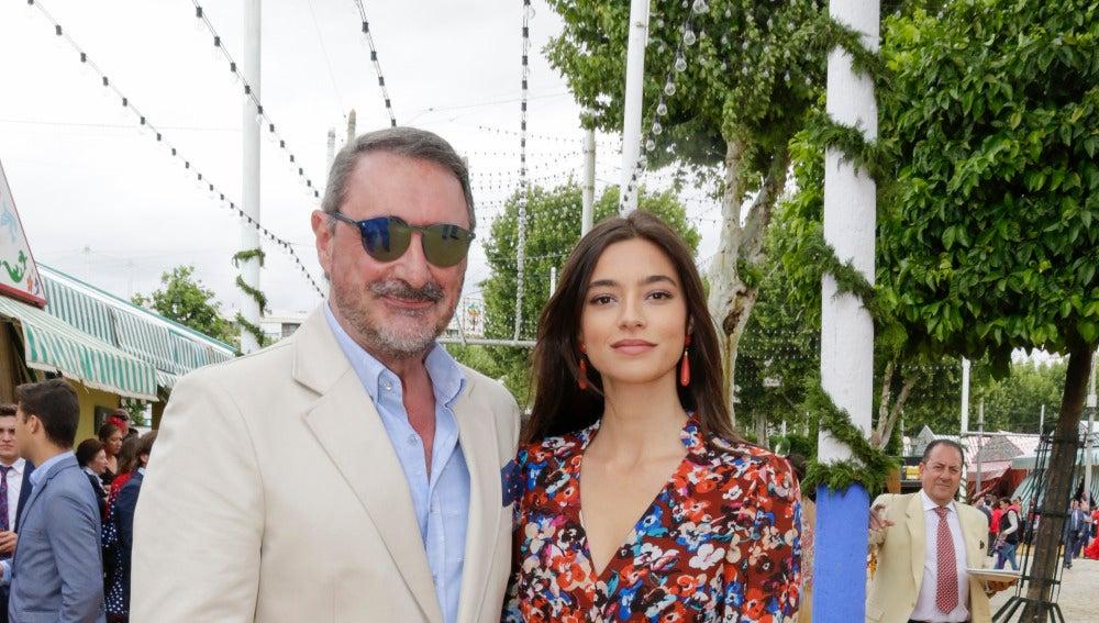 Carlos Herrera con su hija Rocío Crusset