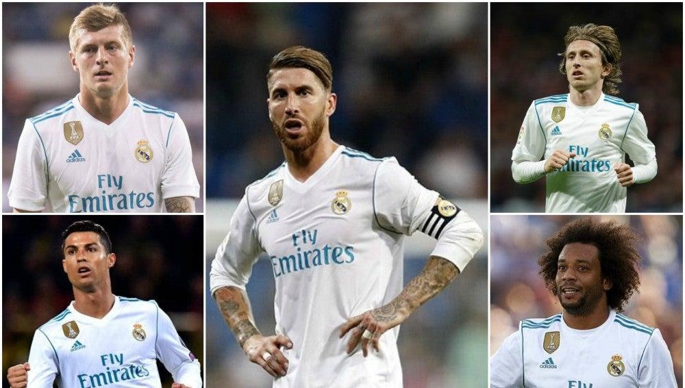 Jugadores del Madrid presentes en el once ideal de la UEFA
