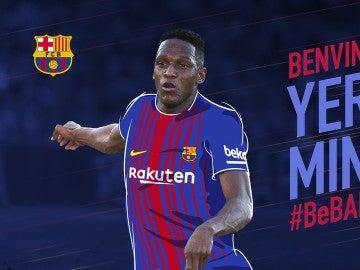 Yerry Mina, nuevo jugador del Barcelona