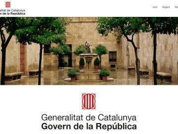 La página web 'Govern de la República'