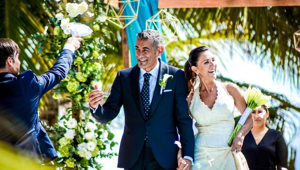 María José y Julián, recién casados a primera vista