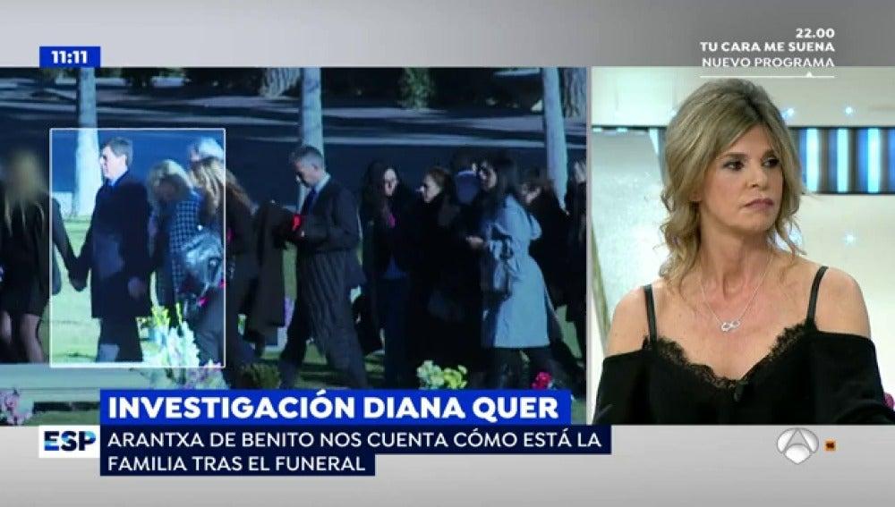 Antena 3 tv arantxa de benito sobre los padres de diana for Espejo publico diana quer