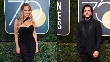 Mariah Carey y Kit Harington en los Globos de Oro