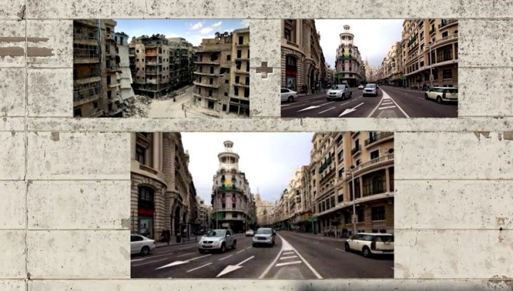 ¿Cómo quedaría tu calle después de un bombardeo como los de Siria?
