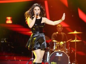 'Toda' la fuerza de Malú sobre el escenario de 'Tu cara me suena' gracias a Lucía Gil