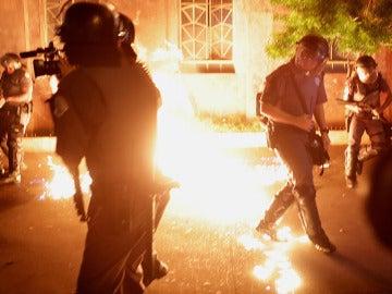 Incidentes en Sao Paulo entre manifestantes y policías