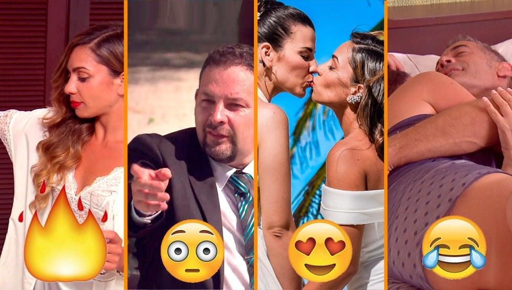 Complicidad, deseo y poco fuego en el primer programa de 'Casados a primera vista'