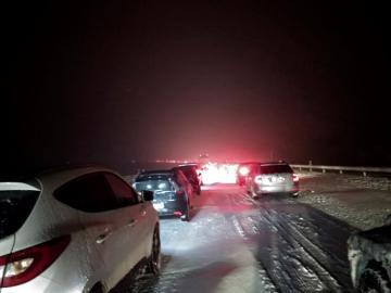Nieve en la AP-6