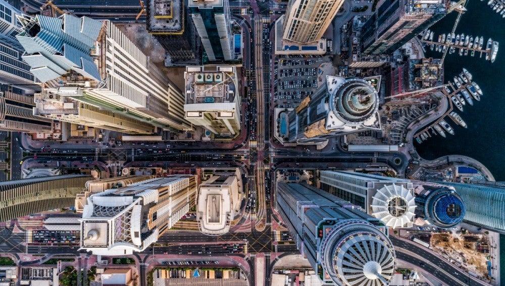 Fotografía tomada por un dron