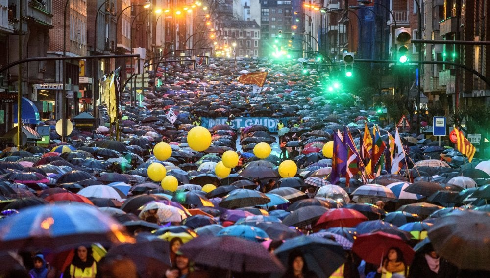 Manifestación Bilbao contra la dispersión de presos de ETA